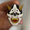 Soft Enamel Pins skull hannya