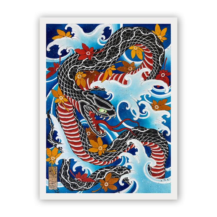 snake by fabio gargiulo original painting